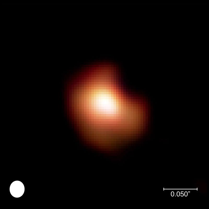 Première image visible de la surface d'une étoile autre que (...)