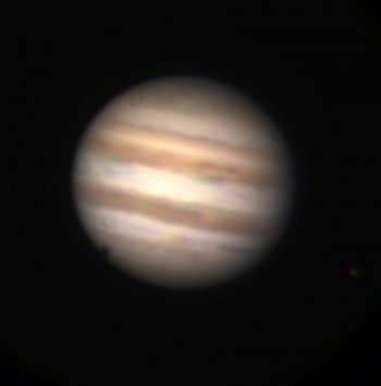 Three colour image of Jupiter obtained by the L1 students; Pierre Baudoz