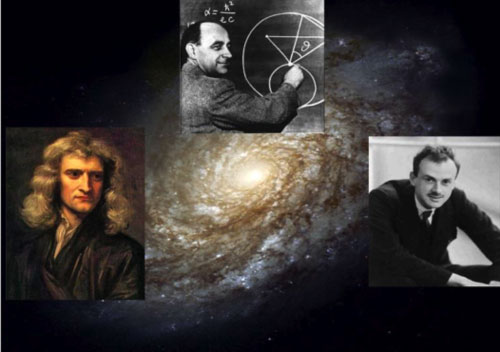A new theoretical approach to the structure of galaxies puts together gravity and quantum properties of dark matter. It combines the heritage of three great names of science: Isaac Newton, Enrico Fermi and Paul Dirac.